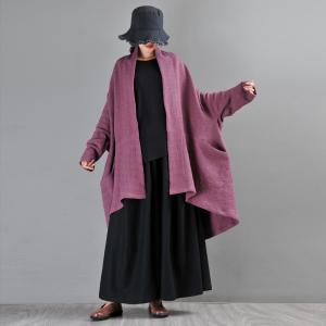 Original Custom Plus Size Cardigan Shawl Collar Cotton Linen Coat
