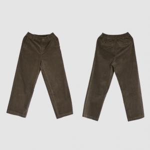 British Style Straight Leg Pants Womens Corduroy Trousers