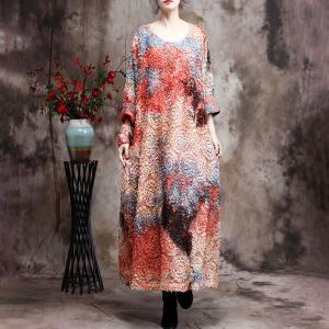 Stereo Jacquard Colorful Dress Beautiful Designer Belted Dress