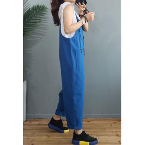 Bright Colored Cotton Korean Dungarees Womens Baggy Overalls